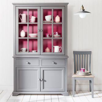Florence Display Cabinet Dresser - Pink And Grey