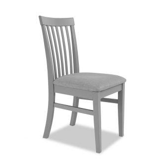 Dove grey high Back upholstered kitchen and dining chair