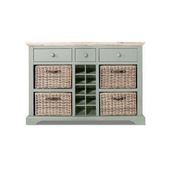 Florence Sideboard with Wine Rack Sage Green