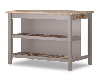 Florence Breakfast Bar with Shelves - Truffle
