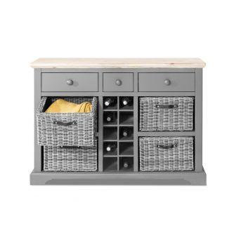 Florence Sideboard with Wine Rack - Dove Grey