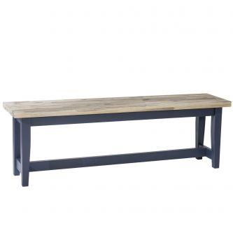 Florence Table Bench - Navy Blue (120cm)