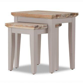 Florence Nest of 2 Tables / Lamp Tables - Truffle