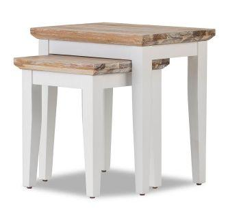 Florence Nest of 2 Tables / Lamp Tables  - White