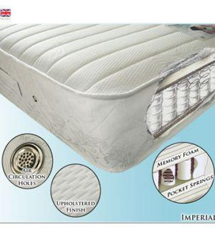 Imperial 5ft Pocket Sprung and Memory Foam Mattress