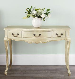 Juliette french dressing table in gold