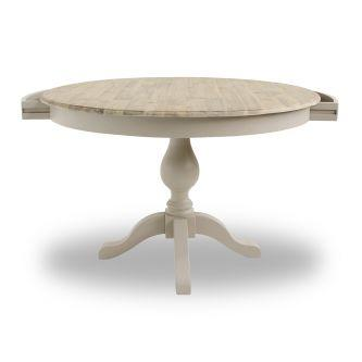 Florence Large Pedestal Round Dining Table (120cm) - Truffle