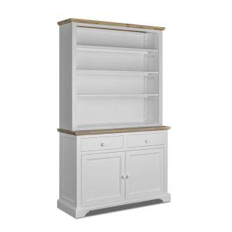 Large dresser with shelving in white for Kitchens and dining rooms.