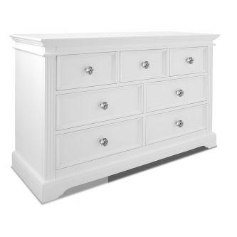 Gainsborough White Chest of Drawers with Crystal Handles