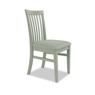 Sage green high back upholstered kitchen and dining chair