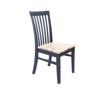 Florence Navy Blue High Back Kitchen and Dining Chair with Acacia Seat