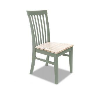 Florence Sage Green High Back Kitchen and Dining Chair with Acacia Seat
