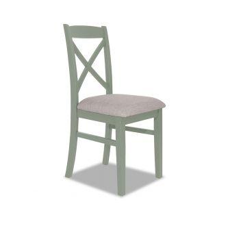 Sage Green cross back upholstered kitchen and dining chair